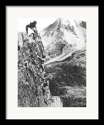 Valleys And Peaks Framed Prints