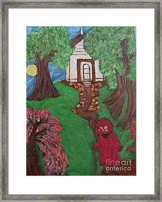 Framed Print featuring the painting Climbin 2 by Mildred Chatman