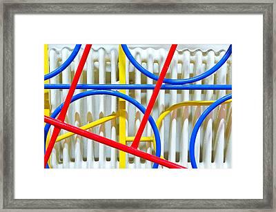 Climbing Frame Framed Print