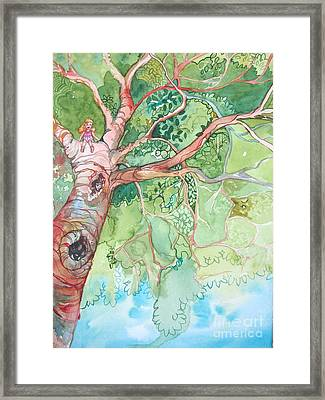 Climbing High Framed Print by Maya Simonson