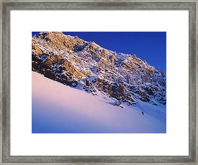 Climbing In Little Cottonwood Canyon Framed Print