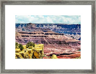 Climbing In The Grand Canyon Framed Print by Bob and Nadine Johnston