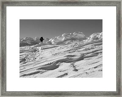 Climbing Mount Pierce Framed Print