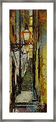 Climbing Stairs Of Paris Framed Print by Dragica  Micki Fortuna