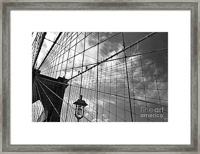 Climbing The Bridge Framed Print