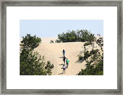 Climbing The Dunes Framed Print by Carolyn Ricks
