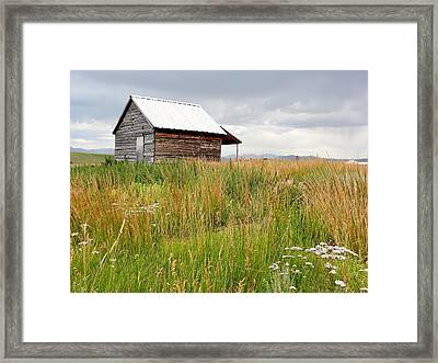 Cline Ranch Outbuilding II Framed Print by Lanita Williams