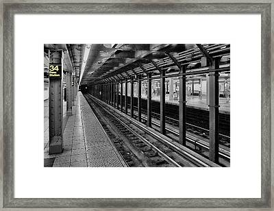 Clinging To A Train Of Thought Framed Print by Tony Ambrosio