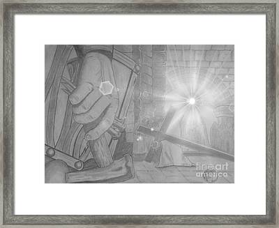 Clinging To The Cross Lights Framed Print