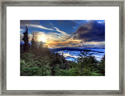 Framed Print featuring the photograph Clingman's Dome Sunset by Doug McPherson
