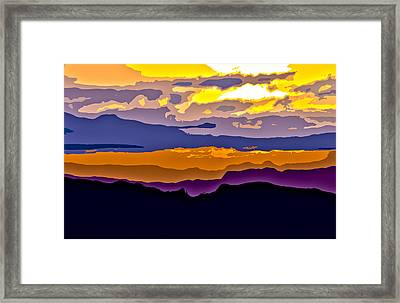 Framed Print featuring the photograph Clingman's Sunrise Cut by David Stine