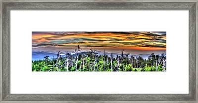 Clingmans Sunset Panoramic Framed Print