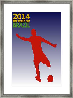 Clint Dempsey Usa World Cup Framed Print by Joe Hamilton