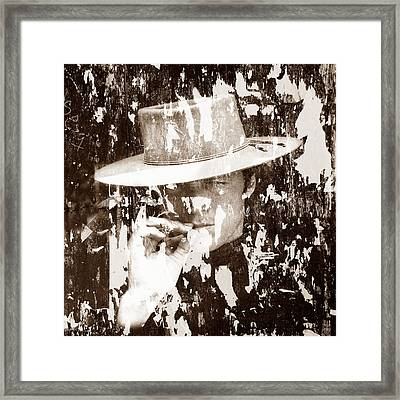 Clint Eastwood 1 Framed Print by Andrew Fare