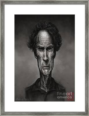 Clint Eastwood Framed Print by Andre Koekemoer