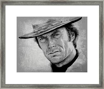 Clint Eastwood Framed Print by Andrew Read