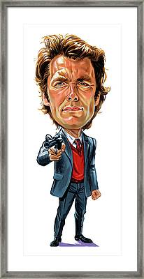 Clint Eastwood As Harry Callahan Framed Print by Art