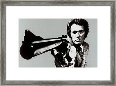 Clint Eastwood Big Gun 2 Framed Print by Tony Rubino