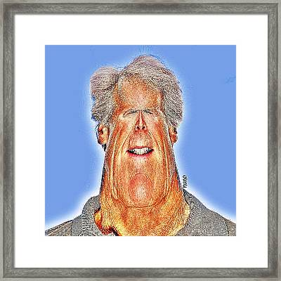 Clint Eastwood Caricature Framed Print