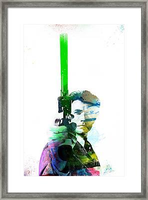 Clint Eastwood Dirty Harry Framed Print by Jonas Luis