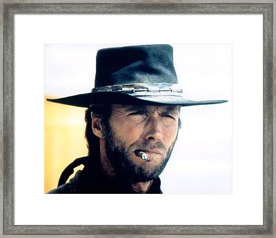 Clint Eastwood In High Plains Drifter  Framed Print by Silver Screen