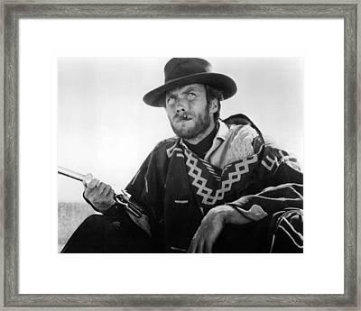 Clint Eastwood In Il Buono, Il Brutto, Il Cattivo.  Framed Print by Silver Screen