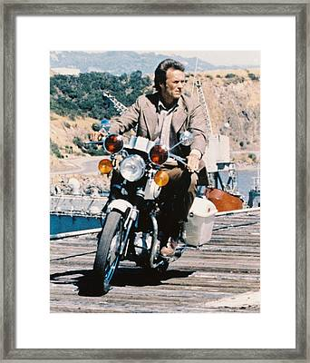 Clint Eastwood In Magnum Force  Framed Print by Silver Screen