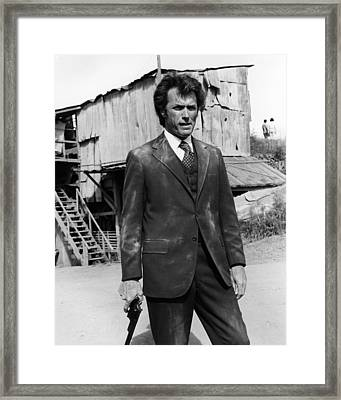 Clint Eastwood Is Dirty Harry Framed Print by Silver Screen