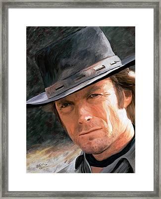 Clint Eastwood Framed Print by James Shepherd