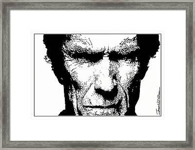 Clint Eastwood Framed Print by Jerrett Dornbusch