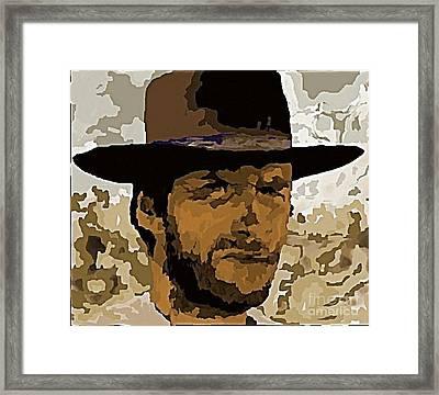 Clint Eastwood Framed Print by John Malone