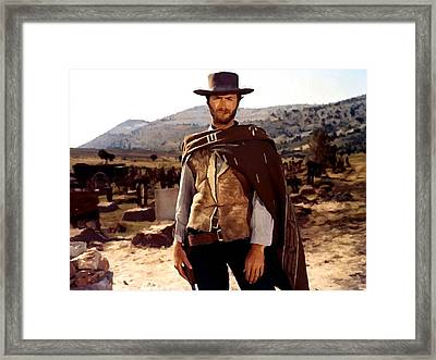 Clint Eastwood Outlaw Framed Print by Gianfranco Weiss
