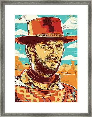 Clint Eastwood Pop Art Framed Print