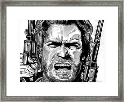 Clint Eastwood Framed Print by Ralph Harlow