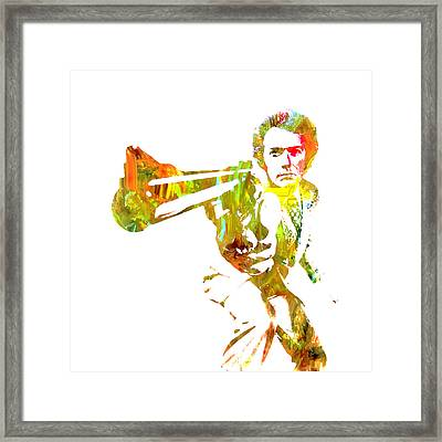 Clint Easwood 3a Framed Print by Brian Reaves