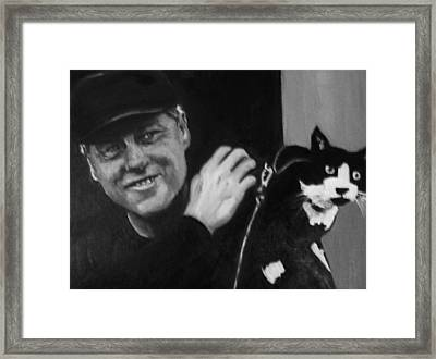 Clinton And Socks Framed Print by Martha Suhocke