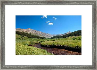 Framed Print featuring the photograph Clinton Gorge  by Eric Rundle