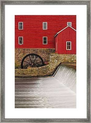 Clinton Historic Red Mill Framed Print by Susan Candelario
