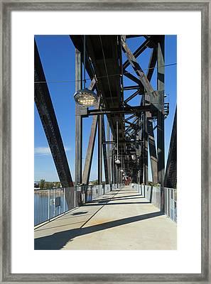 Clinton Presidential Park Bridge Framed Print