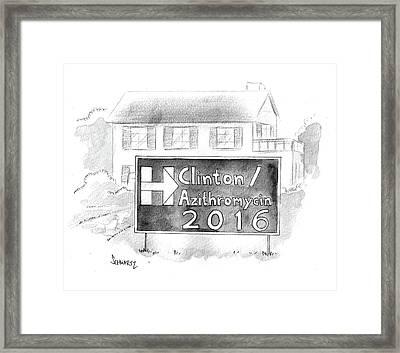 Clinton/azithromycin Framed Print