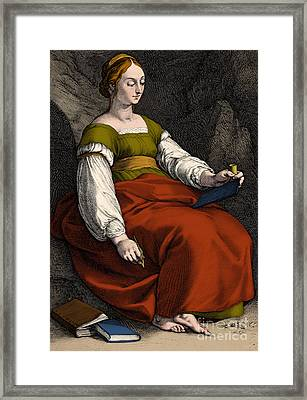 Clio Greek Muse Of History Framed Print by Los Angeles County Museum