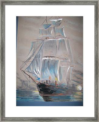 Clipper In Mist Framed Print