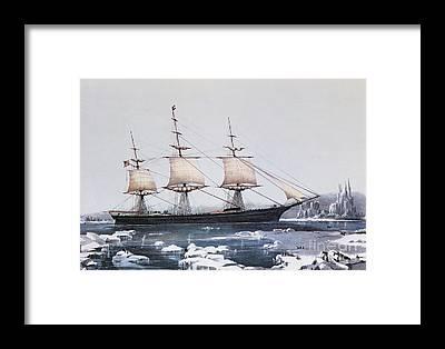 Ice Floes Framed Prints