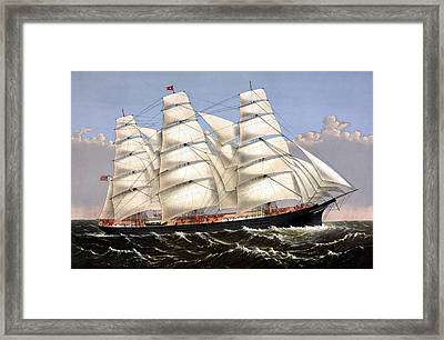 Clipper Ship Three Brothers Framed Print