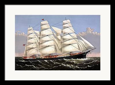 Sailing Ships Mixed Media Framed Prints