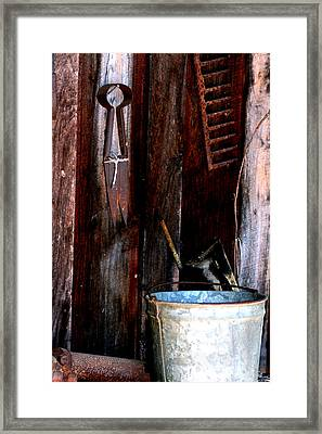 Framed Print featuring the photograph Clippers And The Bucket by Lesa Fine