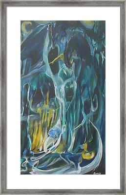 Cloak Of The Ghoul Framed Print by Christophe Ennis