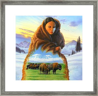 Cloak Of Visions Buffalo Framed Print by Andrew Farley