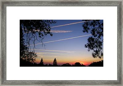 Cloaked Airplanes Framed Print
