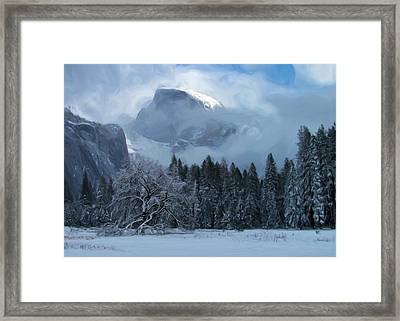 Cloaked In A Snow Storm Framed Print by Heidi Smith